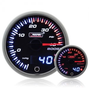 60mm JDM Dual Stepper Motor Warning Boost Gauge (Psi)