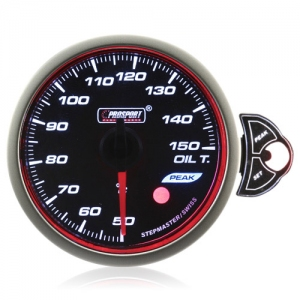 60mm Smoked Stepper Motor Touch Oil Temperature Gauge (°C)