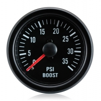 Diesel 52mm Clear Lens / Black Face Boost Gauge Bar 0-35 Psi