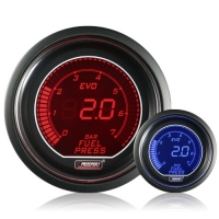52mm Evo LCD Red / Blue Fuel Pressure Gauge (Bar)