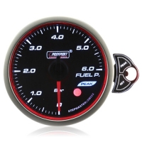 52mm Smoked Stepper Motor Touch Fuel Pressure Gauge (BAR)