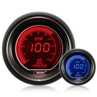 52mm Evo LCD Red / Blue Oil Pressure Gauge (PSI)