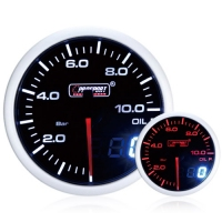 52mm Dual Display Amber / White Stepper Oil Pressure Gauge (Bar)