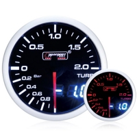 52mm Dual Display Amber / White Stepper Boost Gauge (Bar)