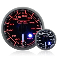 52mm Clear Lens Stepper Motor (Peak) Oil Temp Gauge