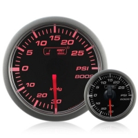 45mm Stepper Motor Clear/Amber Turbo Boost Gauge (PSI)