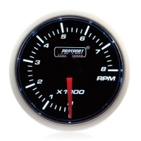 52mm Prosport Smoked Super White Rev Counter (0-8000 rpm)