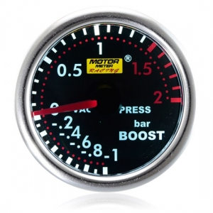 52mm Smoked Super White Turbo Boost Gauge (BAR)