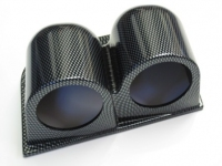 52mm Twin Gauge Dash Pod (Carbon Effect)