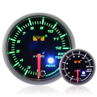 52mm Green Stepper Motor (Peak) Exhaust Gas Temperature Gauge
