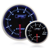 52mm Smoked Super Blue/White Rev Counter (0-10,000 rpm)