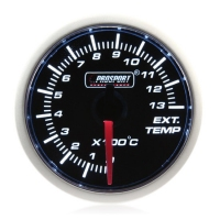 52mm Prosport Smoked Super White Exhaust Gas Temperature Gauge