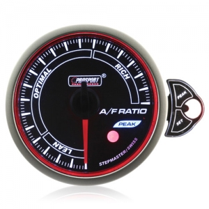 52mm Smoked Stepper Motor Touch Air/Fuel Ratio Gauge