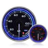 52mm Crystal Blue Peak/Warning Oil Pressure Gauge (BAR)