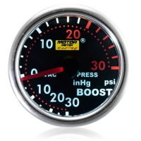 52mm Smoked Super White Turbo Boost Gauge (PSI)
