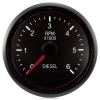 DIESEL 52mm Deluxe Traditional White Rev Counter (0-6000 rpm)