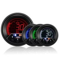 60mm Evo LCD Peak / Warning Oil Pressure Gauge (Bar)