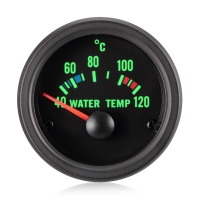 52mm Traditional Green Water Temperature Gauge (°C)
