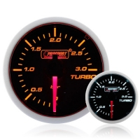 DIESEL 52mm Smoked Super Amber/White Turbo Boost Gauge 0-3 Bar