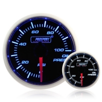 52mm Smoked Super Blue/White Oil Pressure Gauge (PSI)