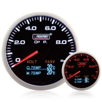 60mm 4-1 Multi Gauge Oil Pressure, Oil Temp, Water Temp, Volt