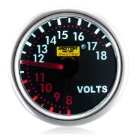 52mm Smoked Super White Volt Gauge
