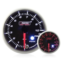 52mm Smoked Stepper Motor (Peak) Oil Pressure Gauge (BAR)