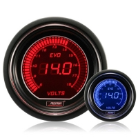 52mm Evo LCD Red / Blue Voltage Gauge