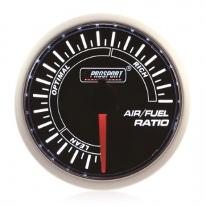 52mm Prosport Smoked Super White Air/Fuel Ratio Gauge