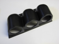 52mm Triple Gauge Dash Pod (Plastic Finish)
