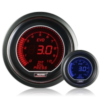 52mm Evo LCD Red / Blue Oil Pressure Gauge (Bar)
