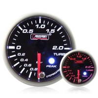 52mm Smoked Stepper Motor (Peak) Turbo Boost Gauge (BAR)