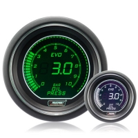 52mm Evo LCD Green / White Oil Pressure Gauge (Bar)