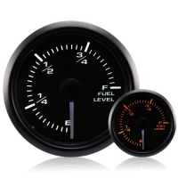 52mm Waterproof Amber/White Fuel Level Gauge (240-330 Ohm)