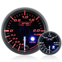 52mm Clear Lens Stepper Motor (Peak) Turbo Boost Gauge (BAR)
