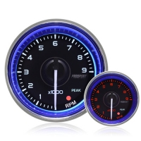 52mm Crystal Blue Peak/Warning Rev Counter 0-9000 Rpm