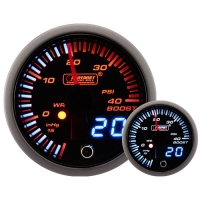 52mm JDM Dual Stepper Motor Warning Boost Gauge (Psi)
