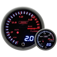 52mm JDM Dual Stepper Motor Warning Boost Gauge (Bar)