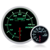 Diesel 52mm Smoked Super Green/White Turbo Boost Gauge 0-45 Psi