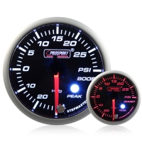 52mm Smoked Stepper Motor (Peak) Turbo Boost Gauge (PSI)