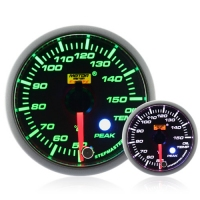 52mm Green Stepper Motor (Peak) Oil Temperature Gauge (°C)