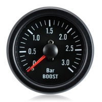Diesel 52mm Clear Lens / Black Face Boost Gauge Bar 0-3 Bar
