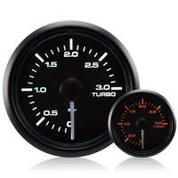 DIESEL 52mm Waterproof Amber/White Turbo Boost Gauge (0-3 BAR)