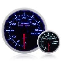 Diesel 52mm Smoked Super Blue/White Turbo Boost Gauge 0-45 Psi