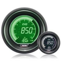 52mm Evo LCD Green / White EGT Exhaust Temp Gauge (°C)