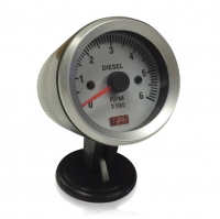 52mm White Faced Diesel Tachometer / Rev Counter
