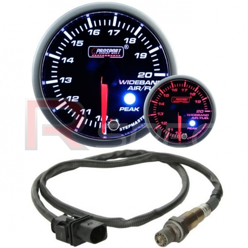 PROSPORT 52MM STEPPER MOTOR WIDEBAND AIR//FUEL RATIO KIT White or Amber