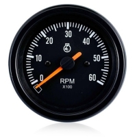 85mm Black Faced Diesel Tachometer / Rev Counter