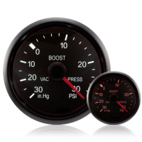 52mm Deluxe Traditional Amber/White Turbo Boost Gauge (PSI)