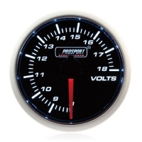 52mm Prosport Smoked Super White Volt Gauge